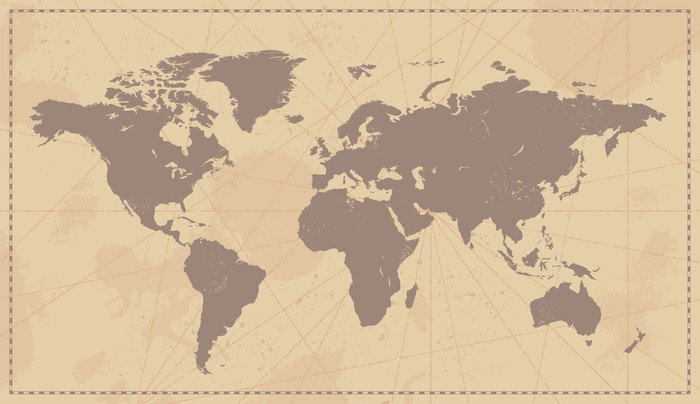 Old vintage world map wall mural pixers we live to change old vintage world map vinyl wall mural themes gumiabroncs Gallery