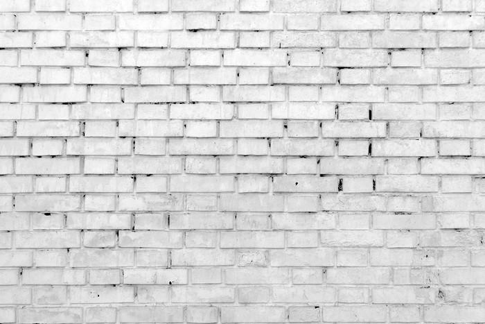 Vinilo pixerstick pared de ladrillo blanco para el fondo o la textura pixers vivimos para - Pared ladrillo blanco ...