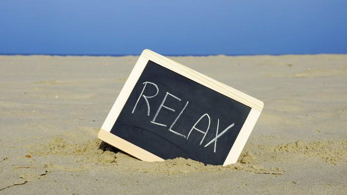 Vinylová Tapeta Relaxovat na pláži - Prázdniny