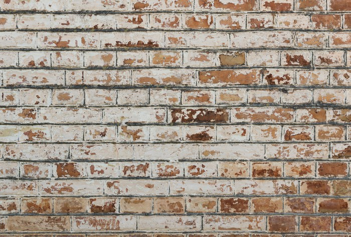 Vinylová Tapeta Pozadí starých vintage špinavé cihlové zdi s omítkou loupání - Evropa