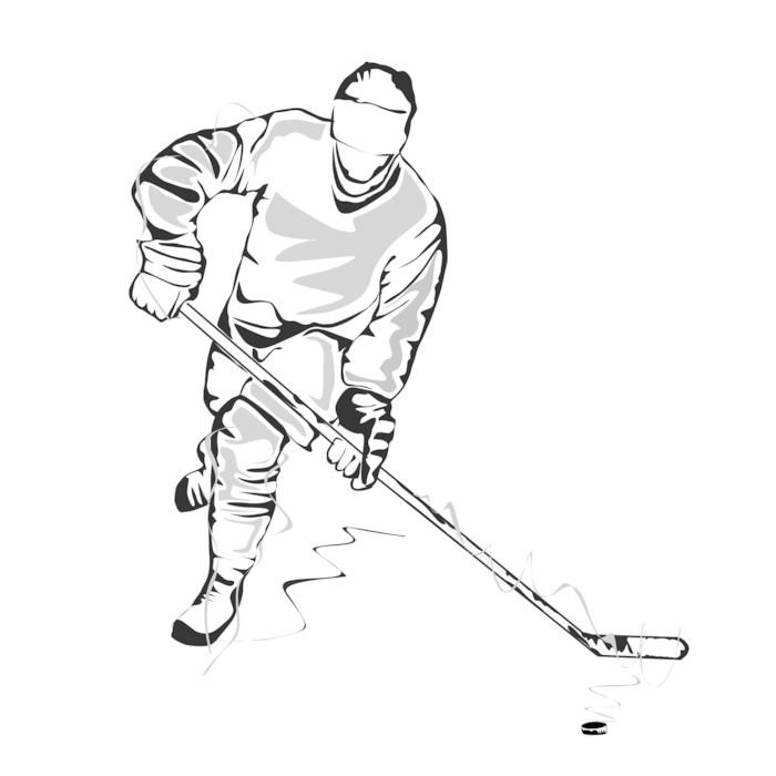 Vinylová Tapeta Hokejista skica - Týmové sporty