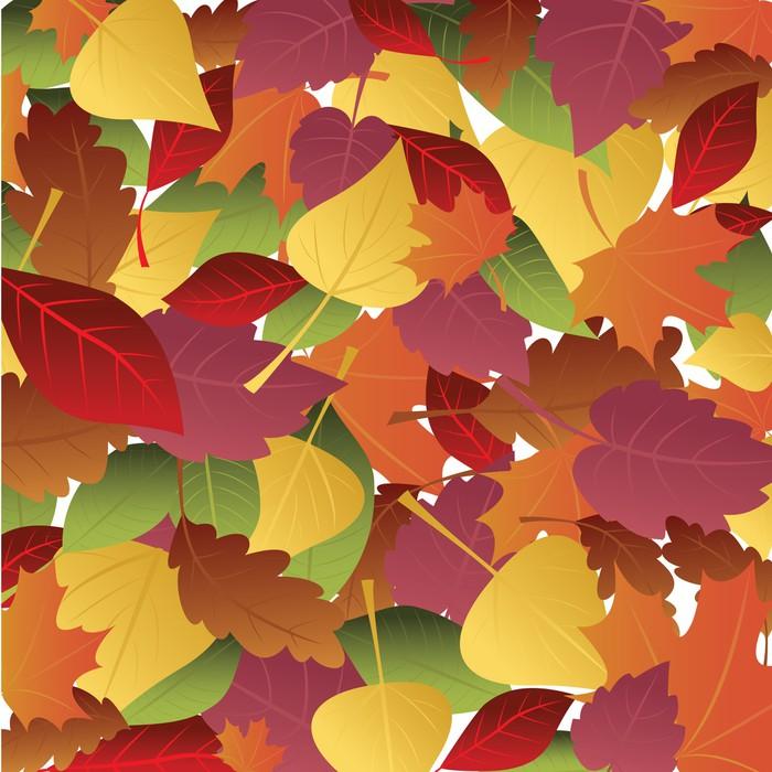Vinylová Tapeta Pozadí podzimní listí - Pozadí