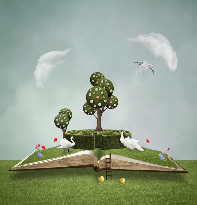 Vinylová Tapeta Zelená kniha - Vzdělávání