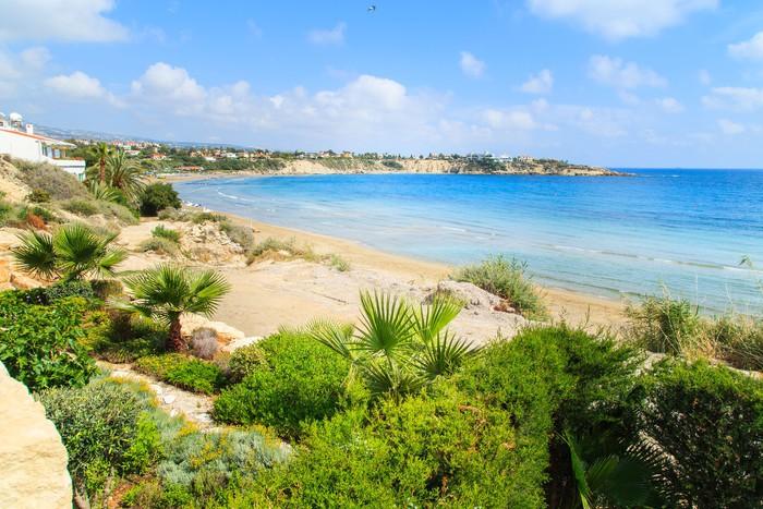 Vinylová Tapeta Pohled na Coral Beach v Paphos, Kypr - Témata