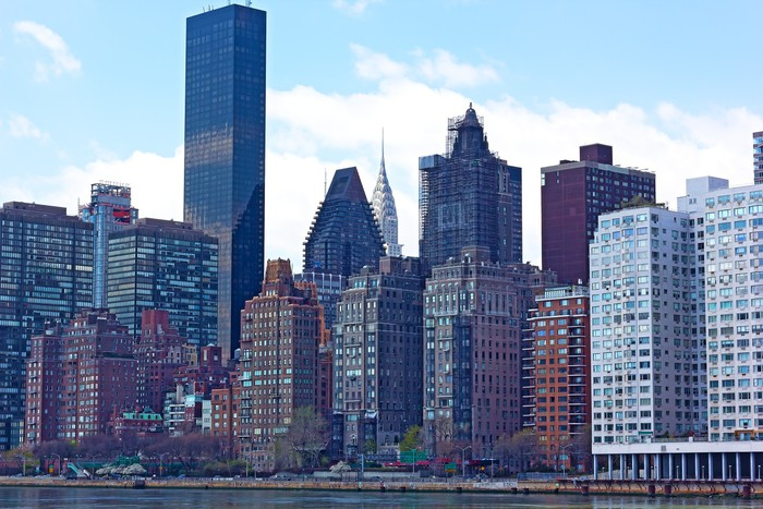 Vinylová Tapeta Pohled na Manhattan z Rooseveltův ostrov, New York - Město
