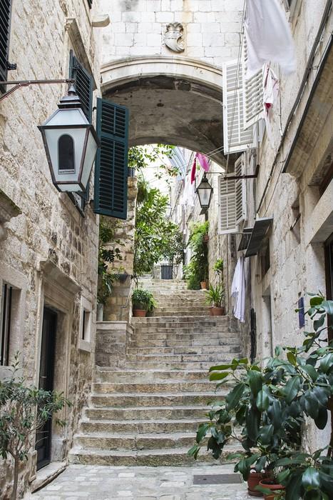fototapeta schody w starego miasta dubrownika � pixers
