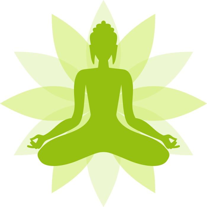 Póster Buda Verde En Una Flor De Loto Pixers Vivimos Para Cambiar