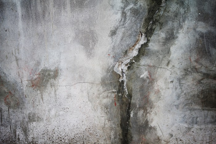 Grunge cracked concrete wall Wall Mural Pixers We live to change