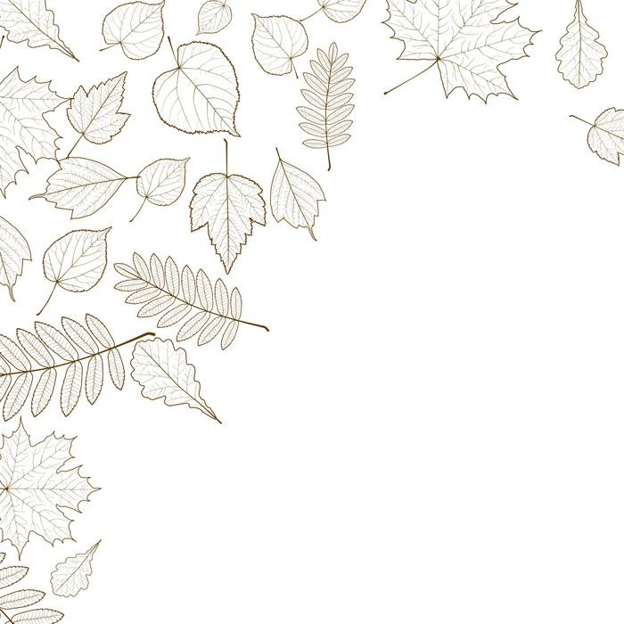 Fototapete Herbst Farbe Blätter Hintergrund Vorlage. • Pixers® - Wir ...