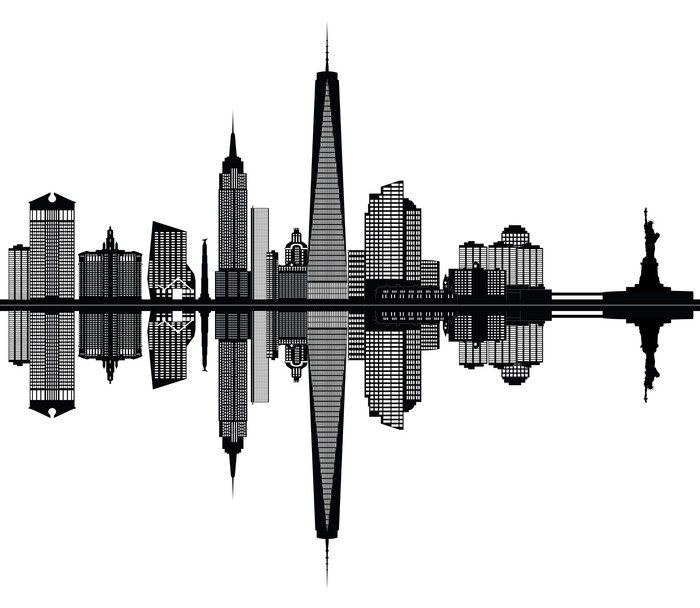 new york city skyline Wall Decal - Wall decals  sc 1 st  Pixers & new york city skyline Wall Decal