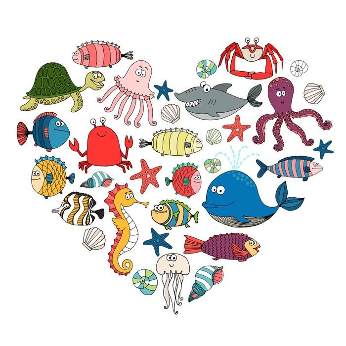 papier peint poissons et animaux marins pixers nous vivons pour changer. Black Bedroom Furniture Sets. Home Design Ideas