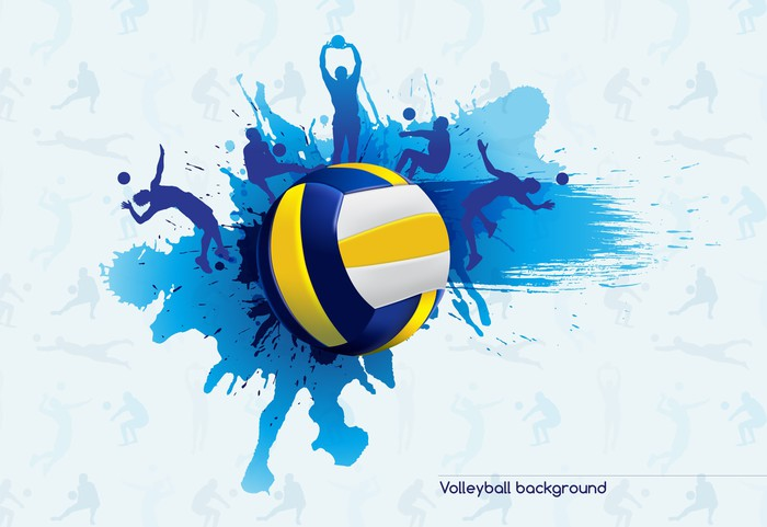 Volleyball Abstract Stock Photos Volleyball Abstract: Vinilo Pixerstick Voleibol Abstracto • Pixers®