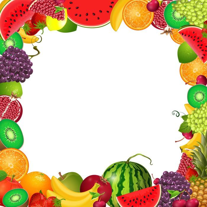 Fototapete Rahmen-Vorlage von Obst für Sie entwerfen • Pixers® - Wir ...