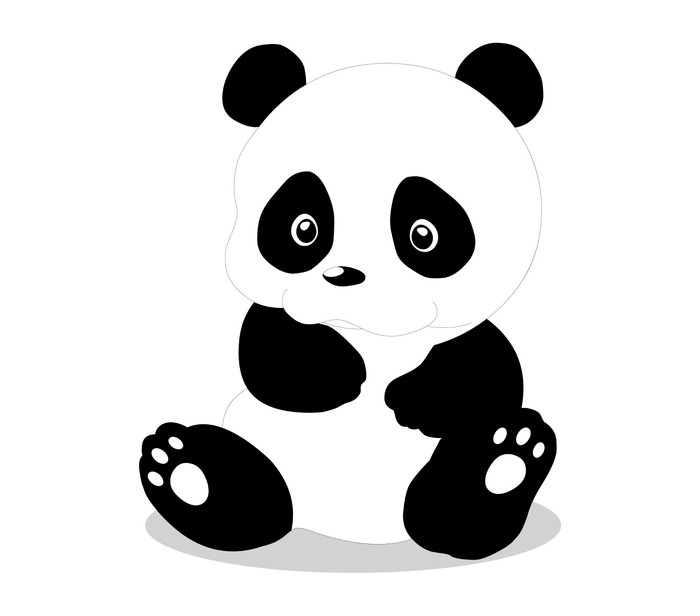 sticker mural mignon b b panda cartoon pixers nous vivons pour changer. Black Bedroom Furniture Sets. Home Design Ideas