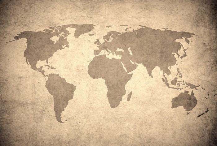 Carta da parati grunge mappa del mondo pixers for Carta parati mondo