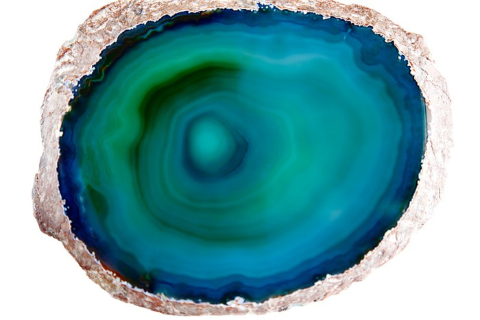 Vinylová fototapeta Zelené a modré achát - Vinylová fototapeta