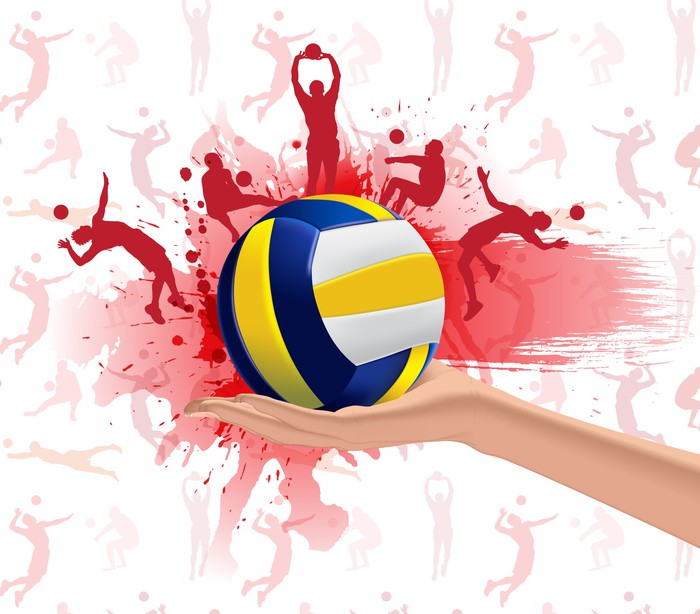 Volleyball sport design background Wall Mural • Pixers ...