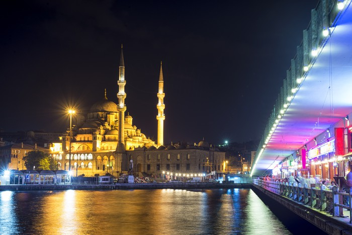 Vinylová Tapeta Istanbul di notte - Střední Východ