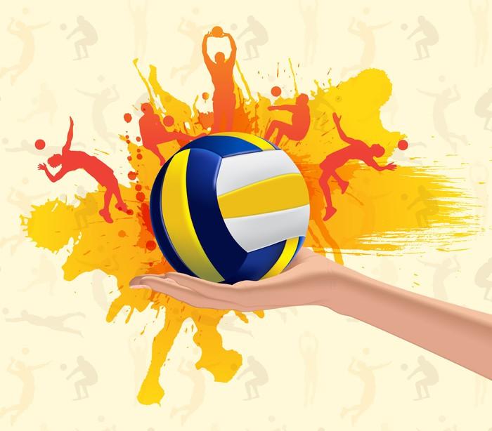 Fotomural Fondo Sucio Abstracto Con Voleibol Pixers