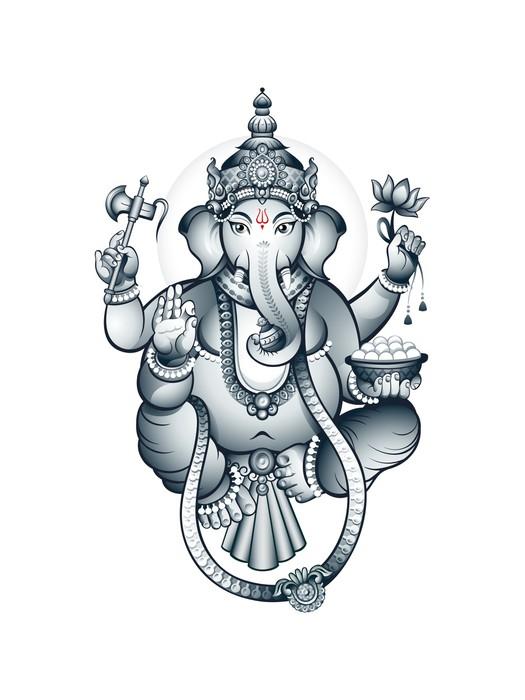 fototapete indischer elefant kopf gott ganesha pixers. Black Bedroom Furniture Sets. Home Design Ideas