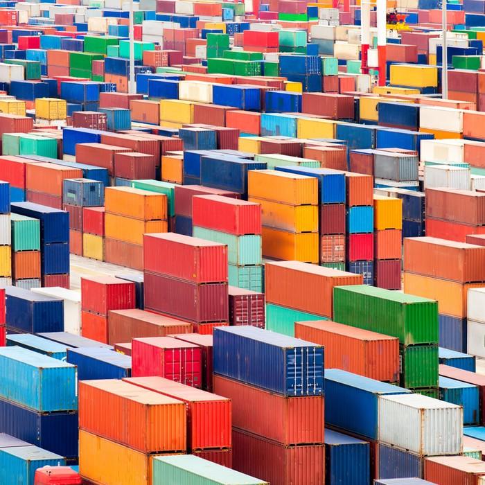 Vinylová Tapeta Kontejnerový terminál - Těžký průmysl