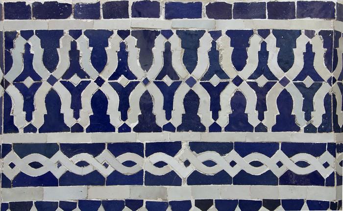Vinylová Tapeta Marocký Zellige dlaždice vzor - Afrika