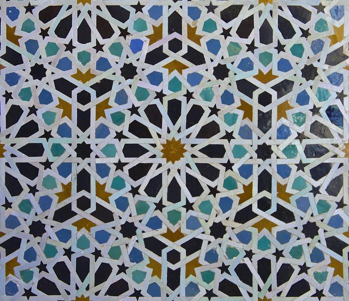 Vinylová Fototapeta Marocký Zellige dlaždice vzor - Vinylová Fototapeta