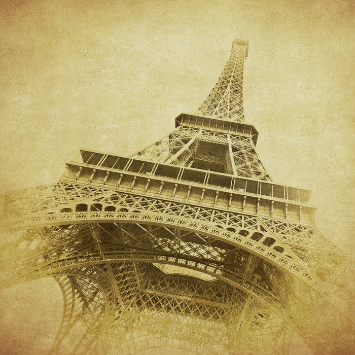 fototapete vintage bild von eiffelturm paris frankreich. Black Bedroom Furniture Sets. Home Design Ideas