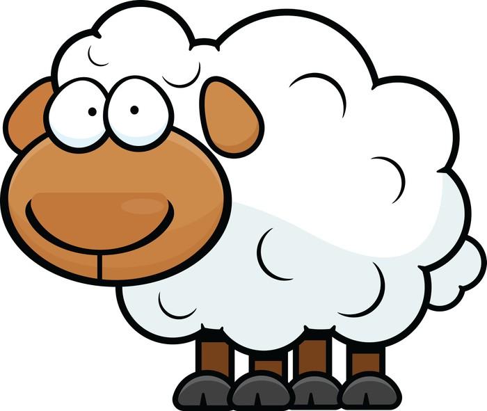 Sticker dessin mouton pixers nous vivons pour changer - Dessin mouton ...