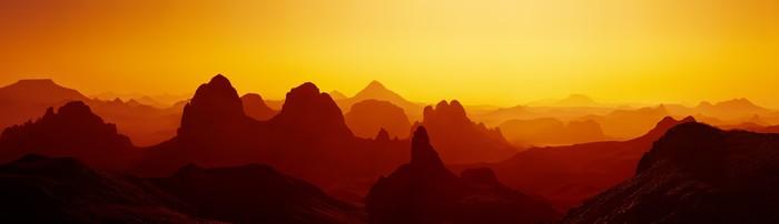 Vinylová Tapeta Sunrise v saharské poušti - Témata