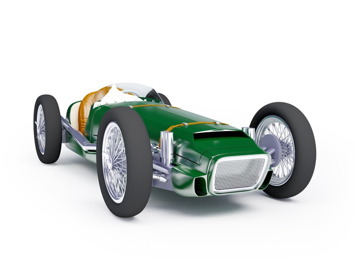 green vintage racing car Wall Mural Pixers We live to change