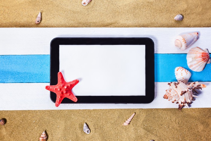Vinylová Tapeta Summer Beach Scene - Prázdniny