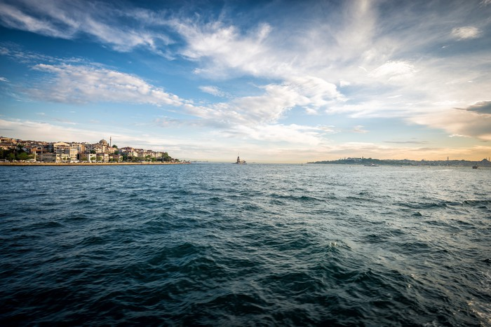 Vinylová Tapeta Panenská věž od moře, Istanbul - Evropa