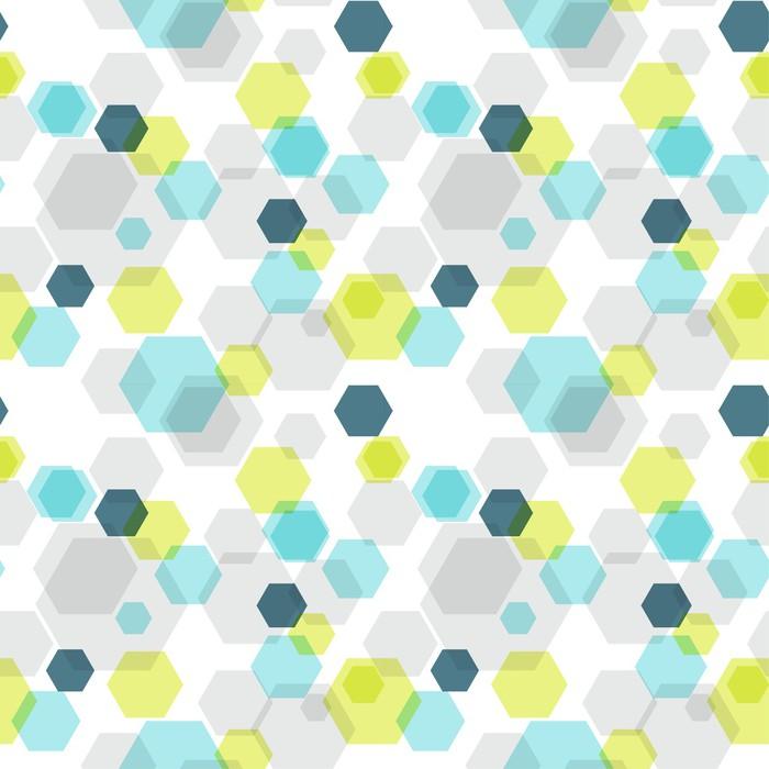 papier peint motifs hexagone sans joint g om trique. Black Bedroom Furniture Sets. Home Design Ideas