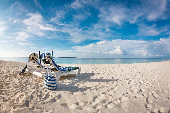 Vinylová Tapeta Maledivy beach - Prázdniny