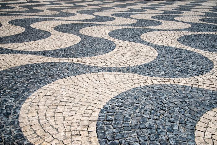 Cobble Stone Mosaics : Typical portuguese quot calcada mosaic cobble stone paving