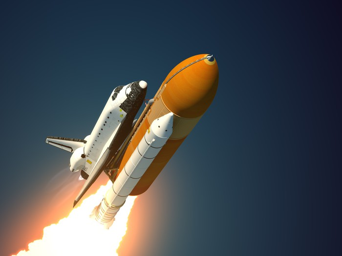Space Shuttle Takes Off Wall Mural Pixers We live to change