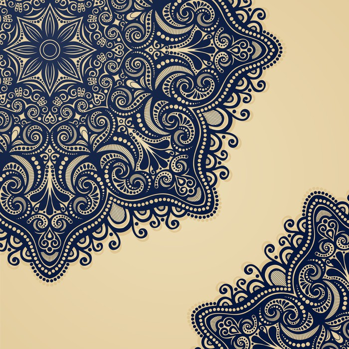 Vinylová Tapeta Vektor, barevné Ozdobné pozadí. Ručně tažené textury s krasavice - Pozadí