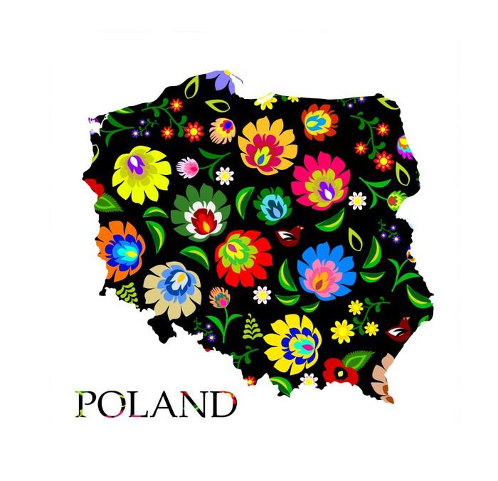 Vinylová Tapeta Polsko tvar plněné tradiční polské lidové vzor vektoru - Evropa