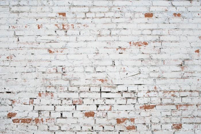 Carta da parati cracked bianco muro di mattoni grunge for Carta da parati muro mattoni