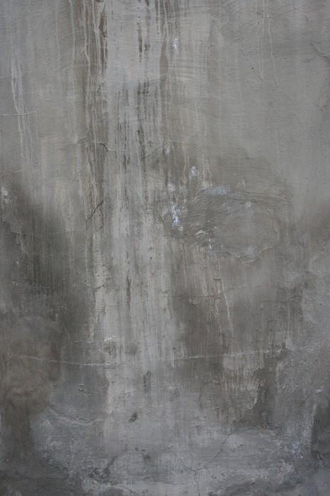 Vinylová Tapeta Popraskané starý šedý cement betonová kamenná zeď vinobraní špinavý - iStaging