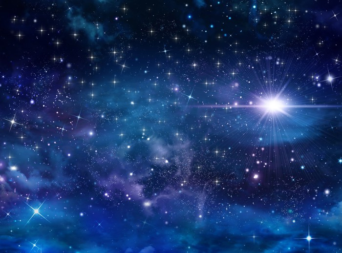 Beautiful Background Of The Night Sky With Stars Wall