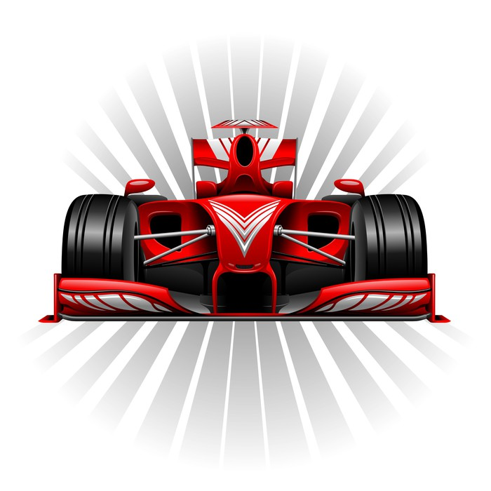 Formula 1 Red Racing Car Wall Mural Pixers We live to change