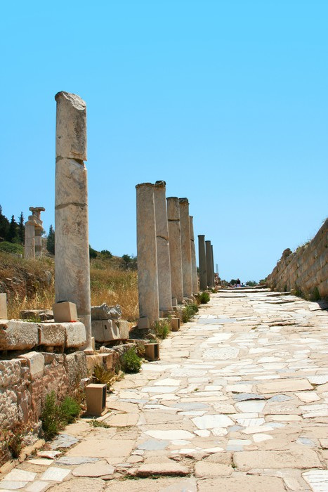 Vinylová fototapeta Silnice ve starověku řeckého města - Ephesus - Vinylová fototapeta