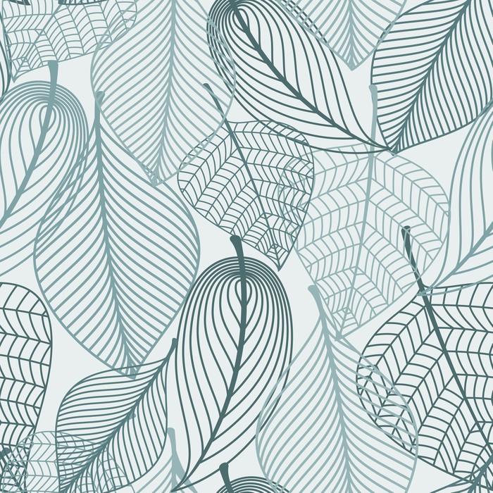 Adesivo per Tavolino Lack Scheletro delicato leaves modello senza saldatura - Stagioni
