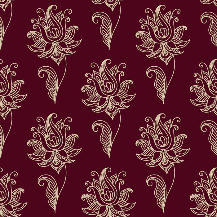 Vinylová Tapeta Paisley bezešvé květinovým vzorem - Styly