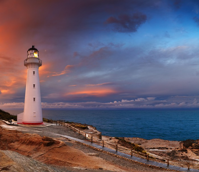 Castle Point Lighthouse New Zealand Wall Mural Pixers