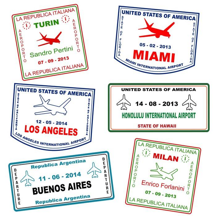 Papier peint timbres grunge de voyage de passeport for Kitchen cabinets lowes with papiers pour passeport