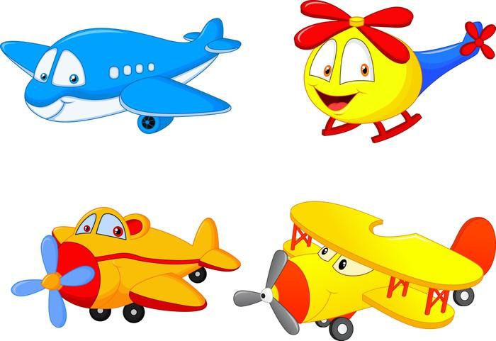 Vinylová Tapeta Cartoon letadlo - Vzduch
