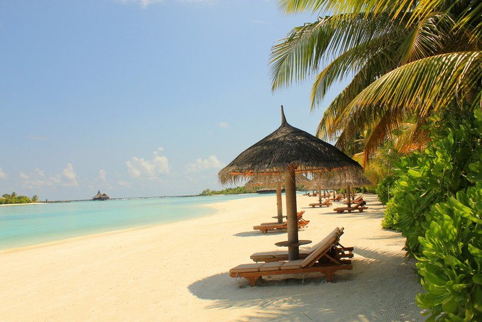 Vinylová Tapeta Maledivy - Oceánie